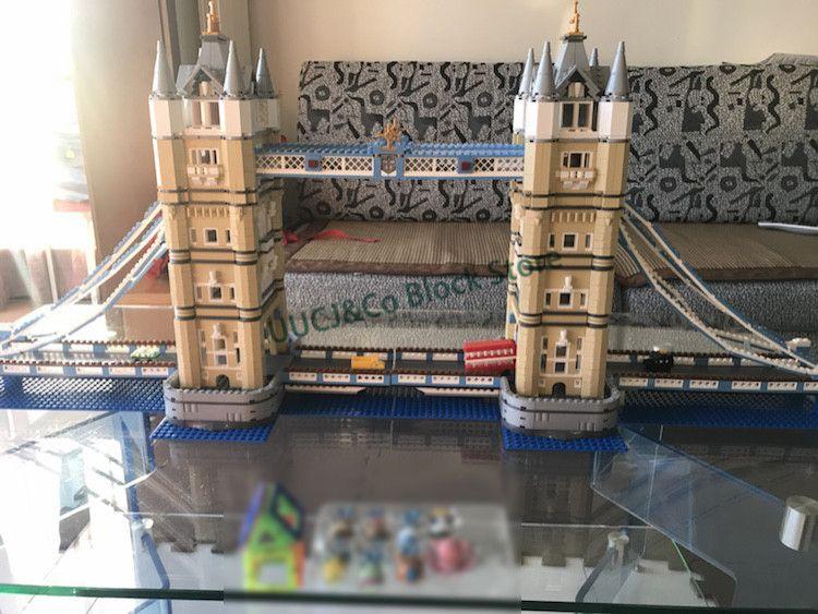 LEPIN 17004 4295Pcs Street View series London Bridge Model Building Blocks Set Bricks Toys For Children Gift 10214