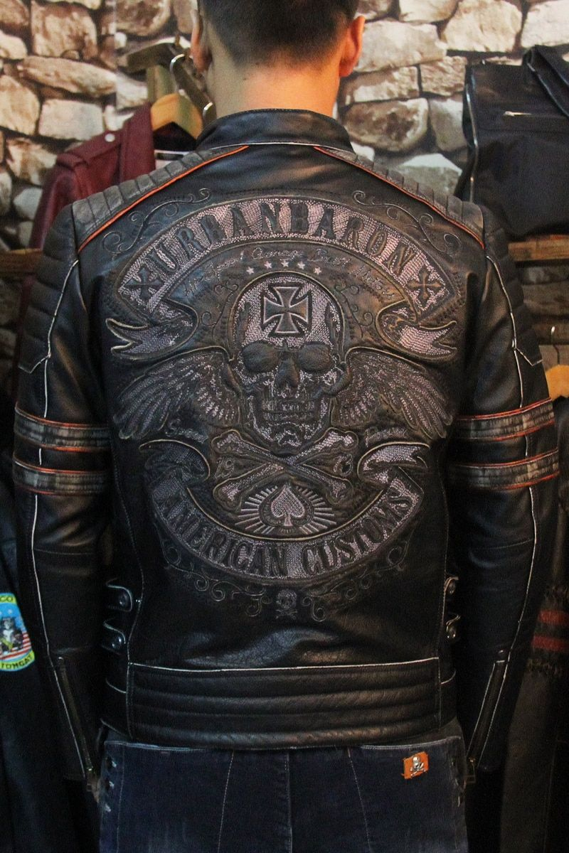 Free shipping.2017 New Brand clothing plus size black men skull leather Jackets men's genuine Leather biker jacket.motorbiker