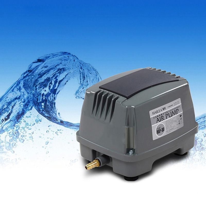 HAILEA HAP-100 80W 100L/min Hiblow Aquarium Fish Tank Septic Liner Air Pump Aqua Air Blower Hydroponics Pond Air Compressor Pump