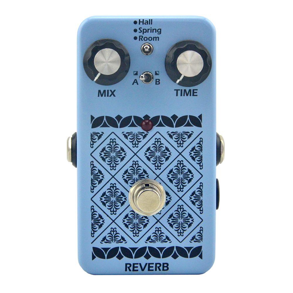 Pédale d'effet Reverb pour Instrument de musique pédale de guitare électrique True pontage pour pièces et accessoires de guitare reverb