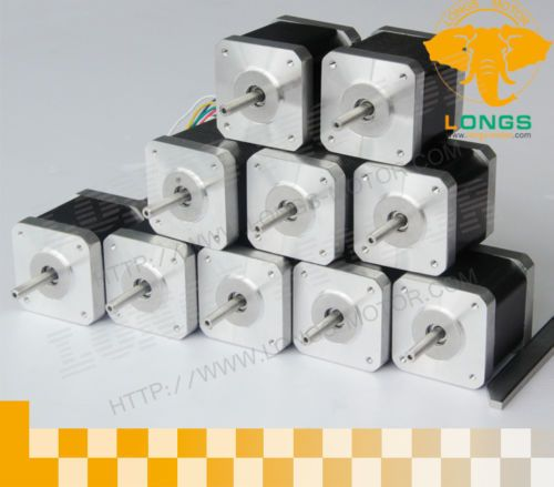 promotion Only to US 10pcs Nema 17 stepper motor 2.5A 68 oz.in, 4 leads 17HS8403N CNC for 3D printer -- longs motor