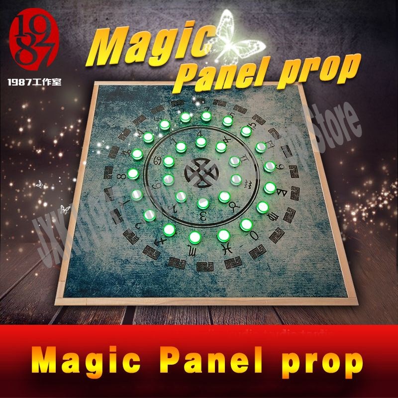 Room escape prop for adventurer game Magic Panel Prop get a hidden password via lighting up the corresponding indicator lamps