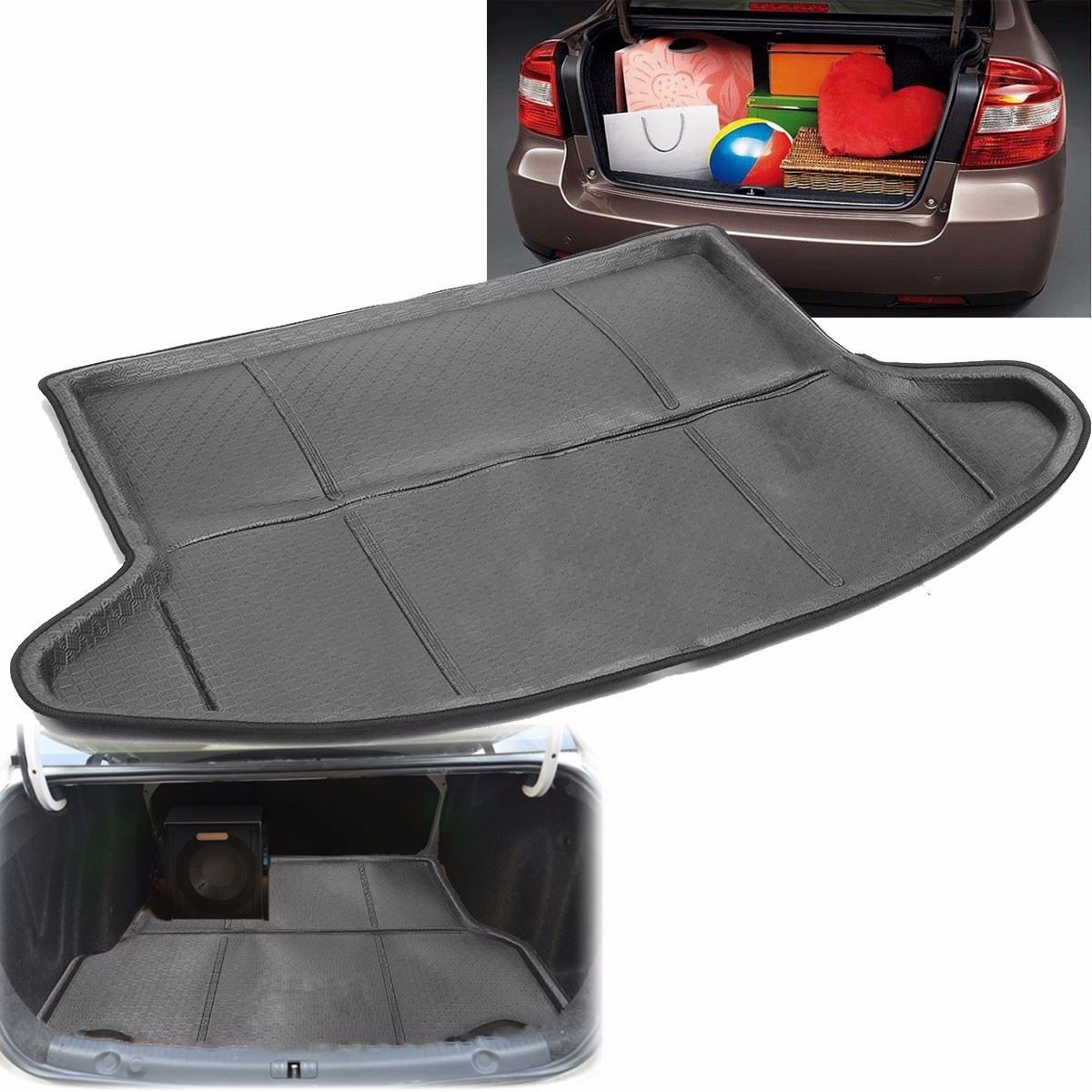 Auto Tailcase Mat Mantle Rear Trunk Cargo Mat for Mazda /CX-5 2013 2014 2015 2017 Black