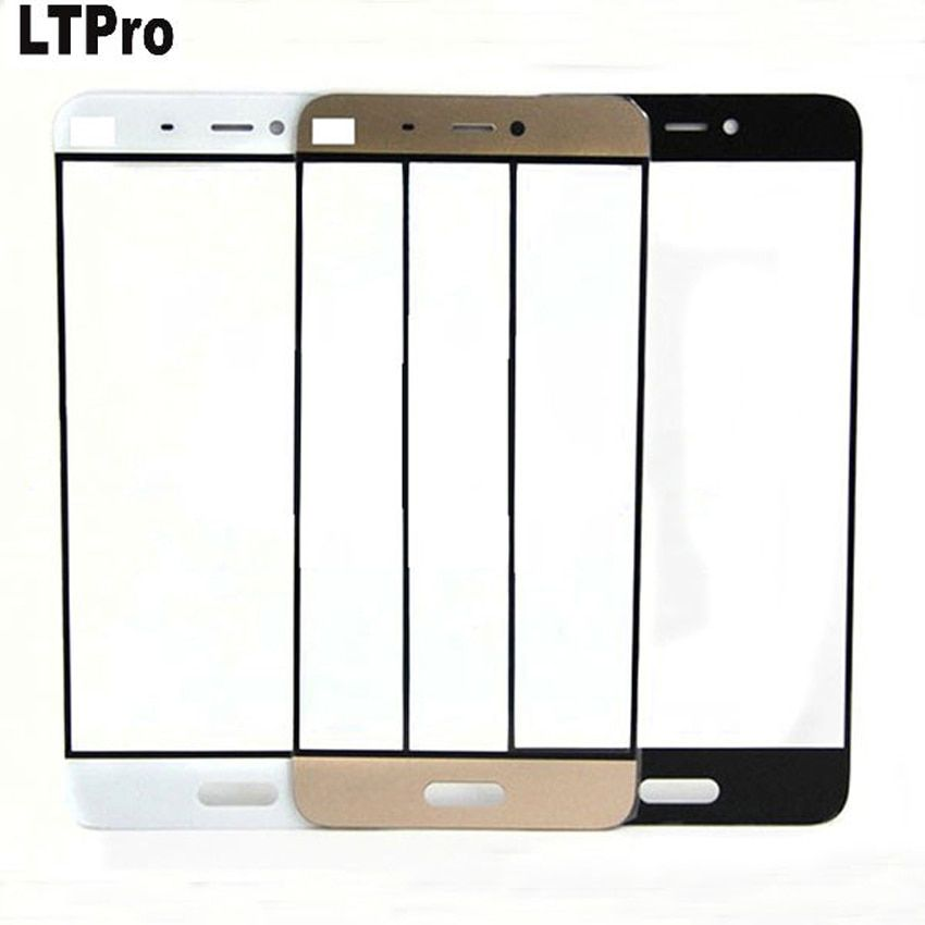 LTPro Black/White/Gold/Pink Front Panel For Xiaomi mi5 MI 5 M5 Mobile Phone Outer Touch Screen Glass Lens Replacement Parts