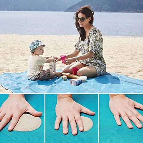 Tapis de plage magique voyage en plein air sable magique tapis gratuit pique-nique de plage Camping imperméable matelas couverture pliable sans sable tapis de plage