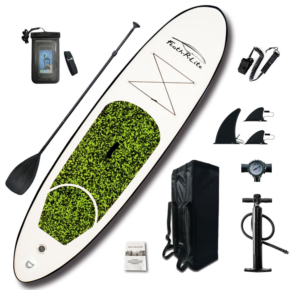 Aufblasbare Stand Up Paddle Board Sup-Board Surfbrett Kajak Surf set 10'x30''x4''with Rucksack, leine, pumpe, wasserdichte tasche