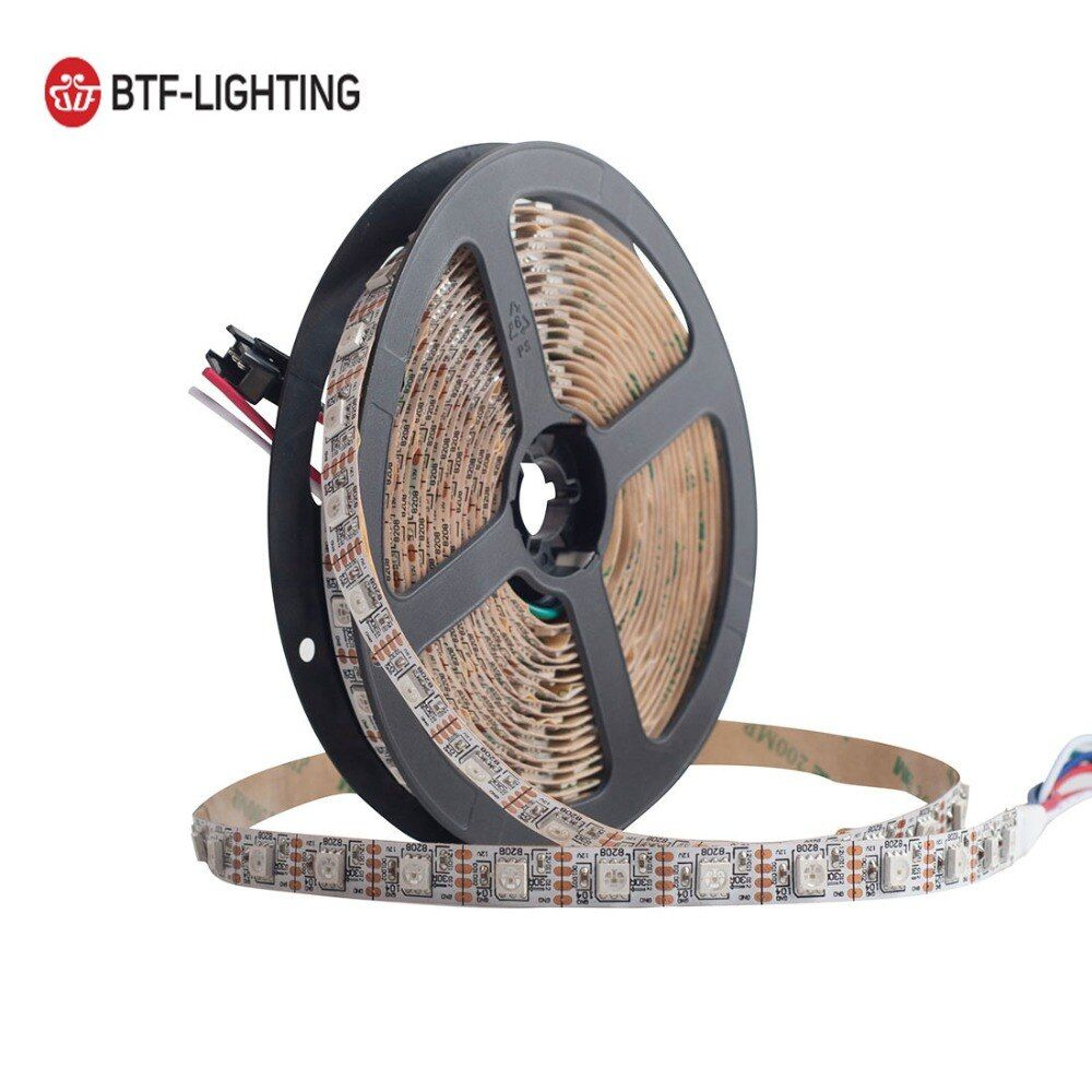 GS8208 RGB LED Strip WS2812B 12V Individually Addressable 60led/m 5m 300LED Pixel Strip Signal Break-point Continue Transmission