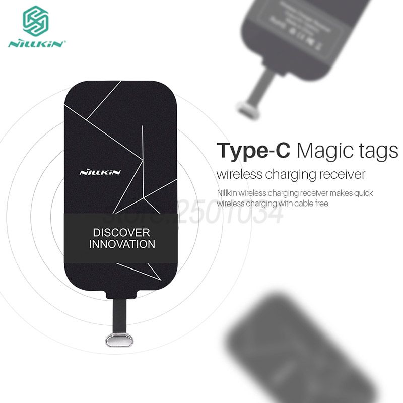 Type-C QI Wireless Charging Receiver for Huawei Honor 9 Nillkin Magic Tag Receiver Type C Adapter For Xiaomi Mi6 for Oneplus 5 3