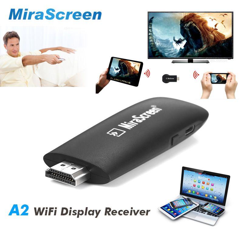 Neue MiraScreen A2 Drahtlose HDMI Dongle Media TV Stick Unterstützung Miracast Airplay DLNA Angeschlossenen PC Smartphone IPad zu TV Projektor