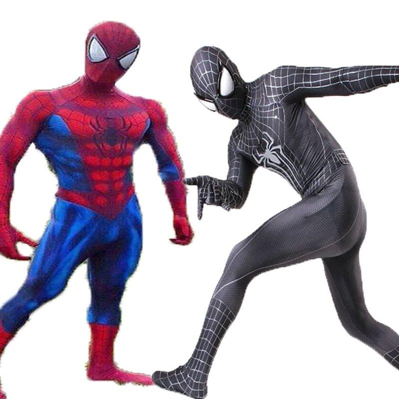Костюм Человека-Паука, 3D Принт, Косплей, Костюм Зентай, Спандекс, Мужской, Комикс, Человек-паук, Костюм Супергероя S-3XL