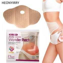 30 Jours 10 Pc Mymi Wonder Patch Rapide Minceur Patch Ventre mince Patch Abdomen combustion des graisses Nombril Bâton Minceurs Lifting outil