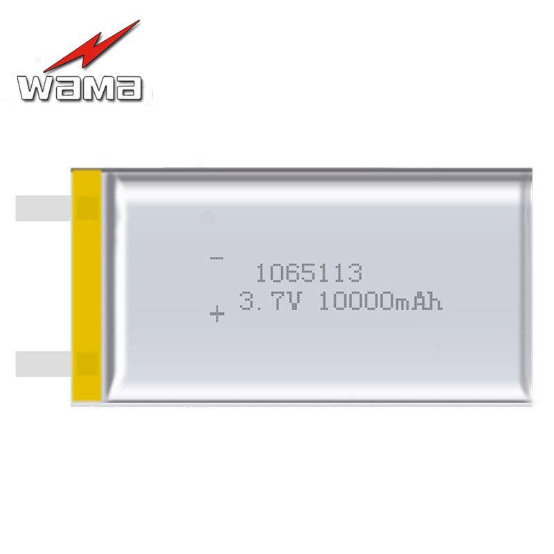 2x1065113 capacité réelle 10000 mAh Li-ion 3.7 V batterie Rechargeable Lithium polymère Mobile de secours puissance produits numériques tablette