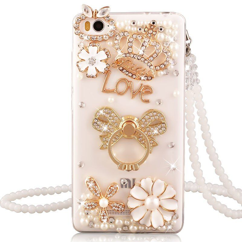 Xiaomi redmi 4A case luxury Rhinestone stand holder cover for xiaomi redmi 4a Silicone soft case diamond protective women cases