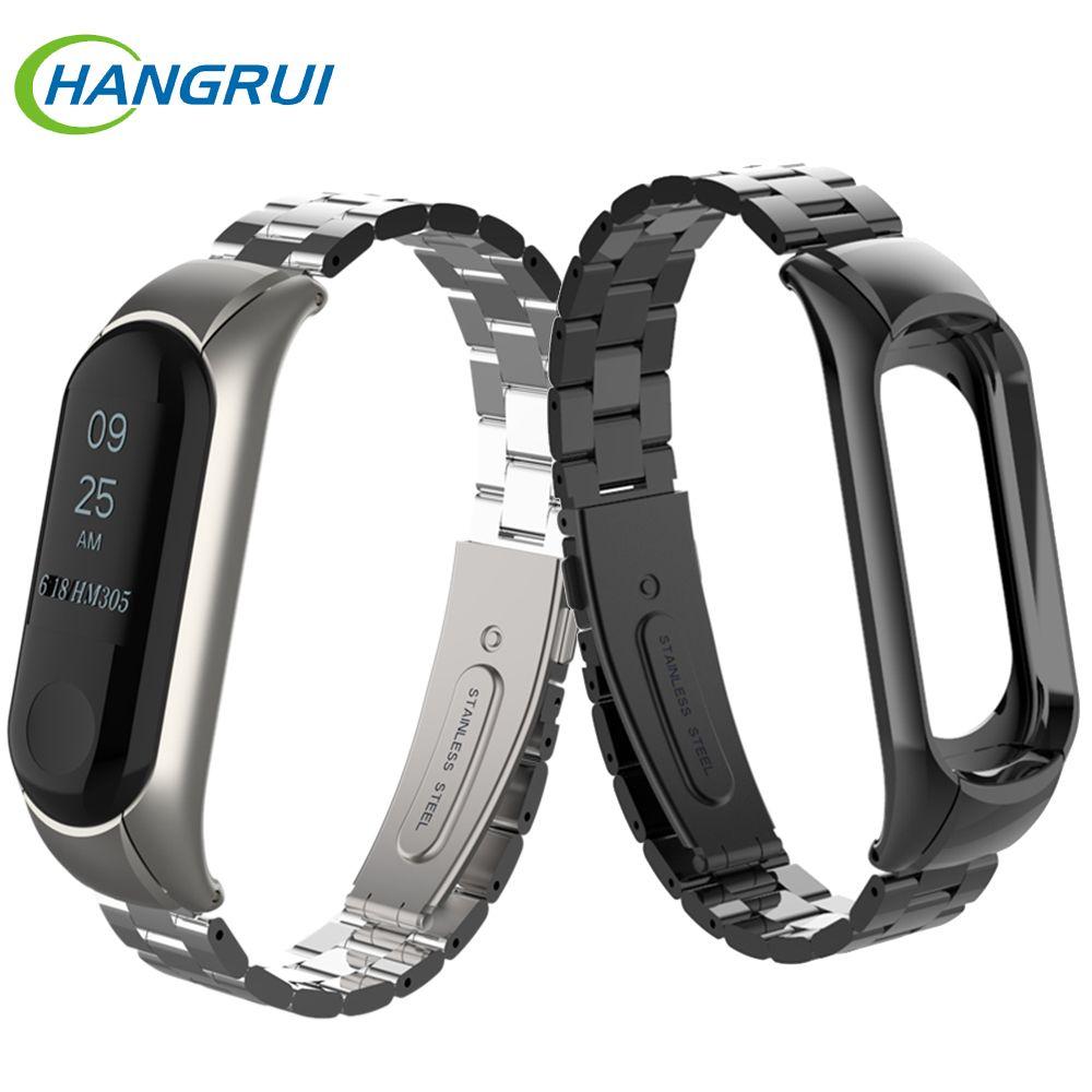 Stainless steel wrist strap for xiaomi mi band 3 metal watch band smart bracelet miband 3 belt replaceable watch straps mi 3