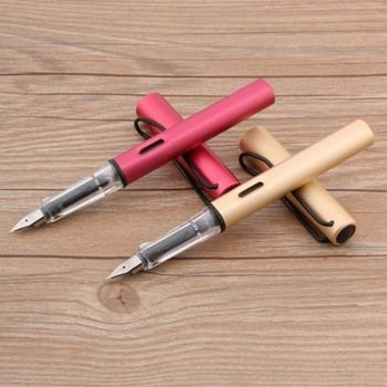 1pc lot new Metal fashion Transparent color piece Trim EF Nib Fountain Pen