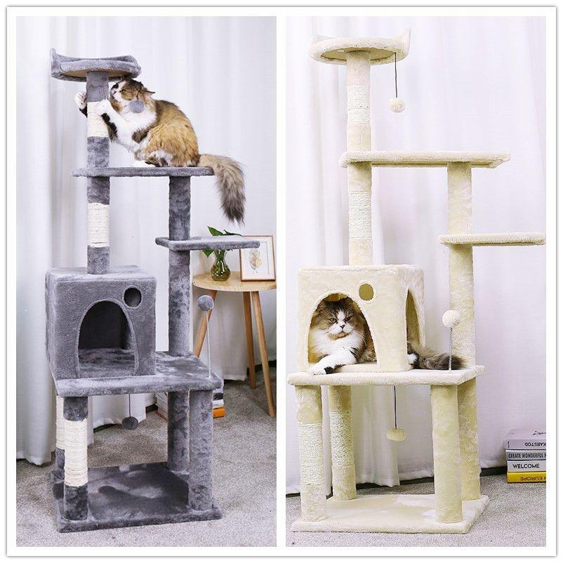 Domestic Lieferung Katze Spielzeug Kratzen Holz Klettern Baum Katze Springen Spielzeug mit Leiter Klettern Rahmen Katze Möbel Kratzen Post
