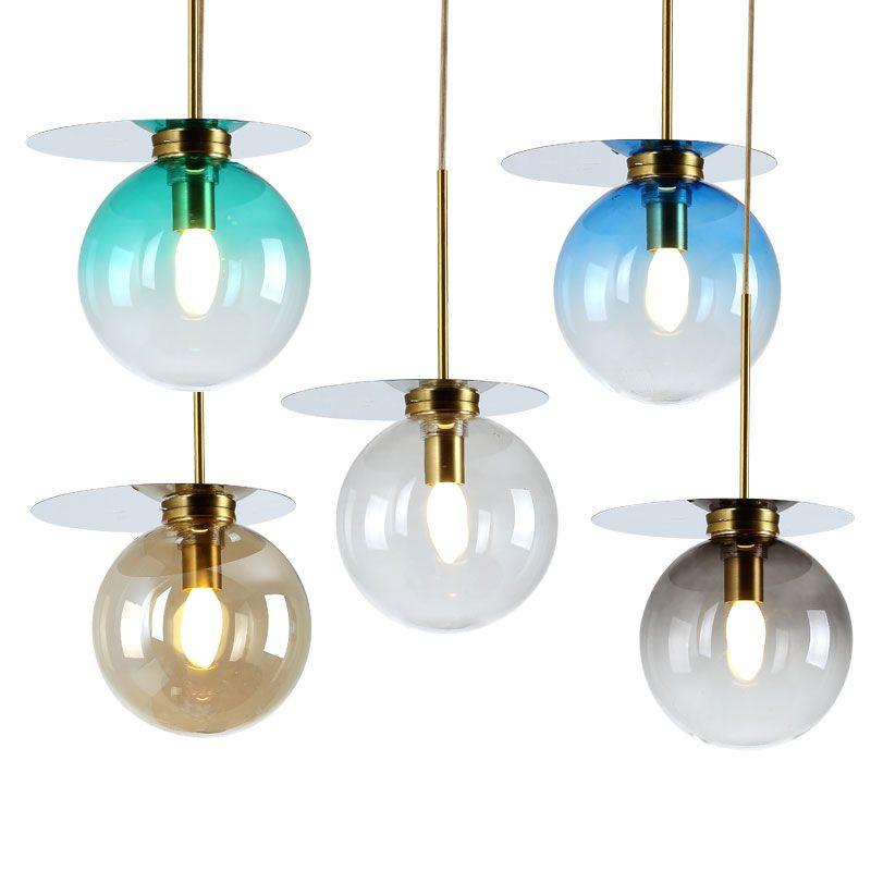 Nordic Modern Light Chandelier Glass Stone Pendant Lamp E14 Indoor Lighting Hanglamp Hanging Lamp Dining Room Bar Deco Luminaria