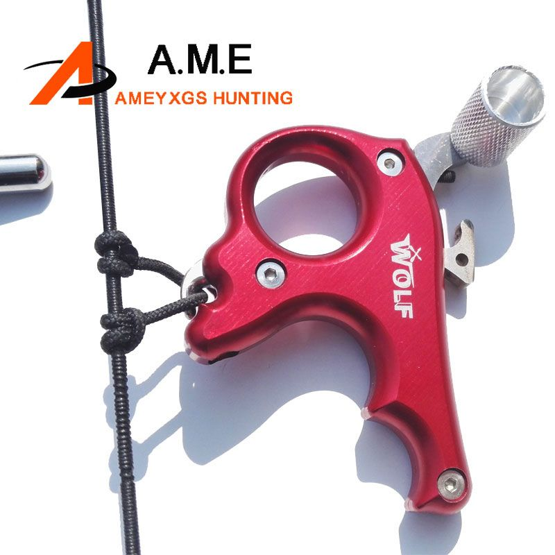 2 Color High Stainless Steel Archery Caliper Bow Release For Compound Bow 3 Fingers Trigger Suitable For Right Left Hand Hunting