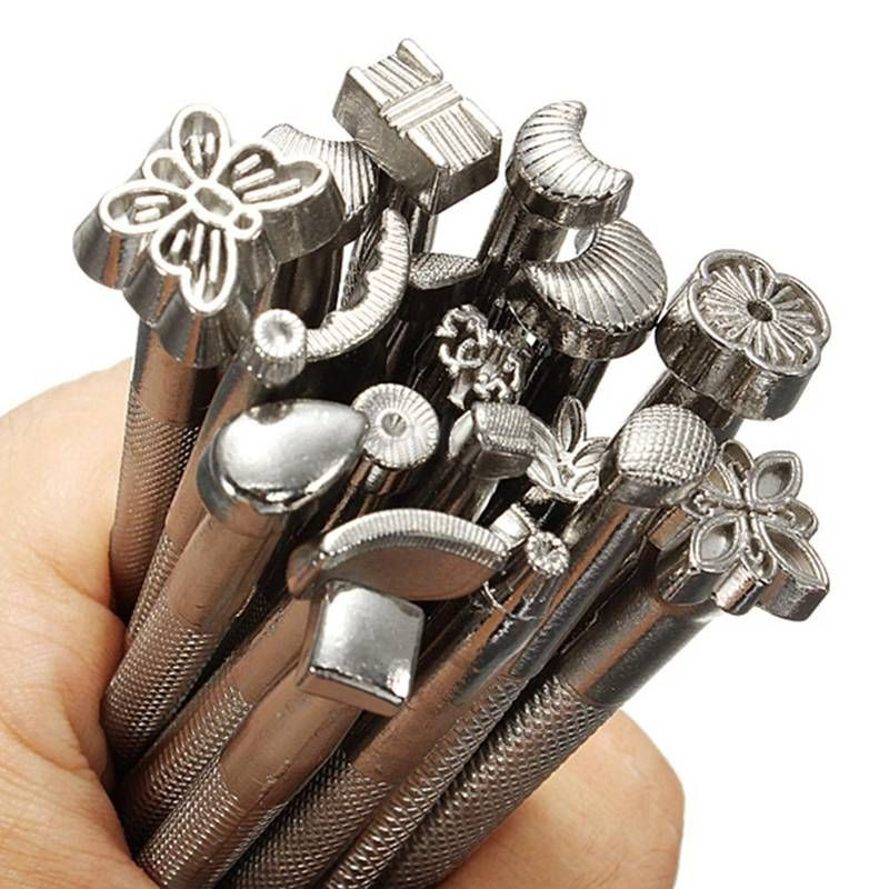 20pcs/lot Metal Stamp Set Leather Stamp DIY Stamp Carving Tools Leather Working Saddle Making Tools