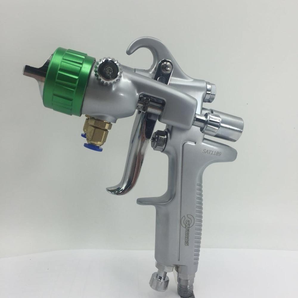 SAT1189 nano chrome pistolet à peinture haute pression double buse air pistolet à peinture argent miroir placage pistolet à peinture pulvérisateur pneumatique