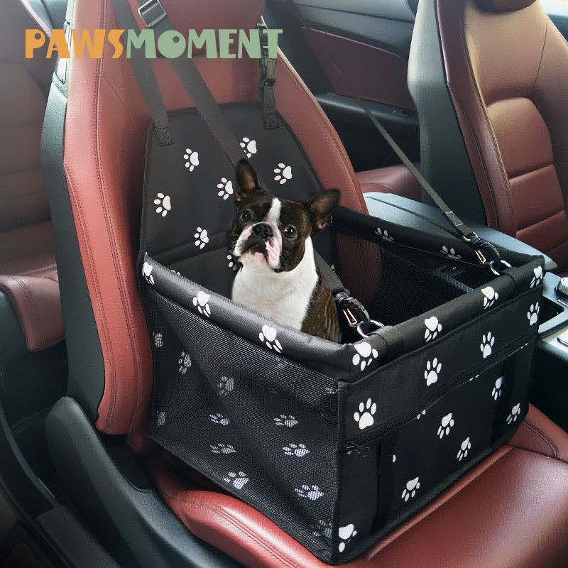 Paws Pet Dog Carrier Folding Car Seat Pad <font><b>Safe</b></font> Carry House Puppy Bag Car Travel Accessories Waterproof Dog Seat Bag Basket NEW