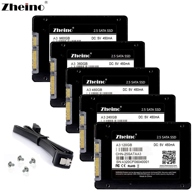 Zheino SATA3 SSD 60GB 120GB 240GB 360GB 480GB 32GB 64GB 128GB 256GB 512GB Internal Solid State Drive Disk For PC Laptop Desktop