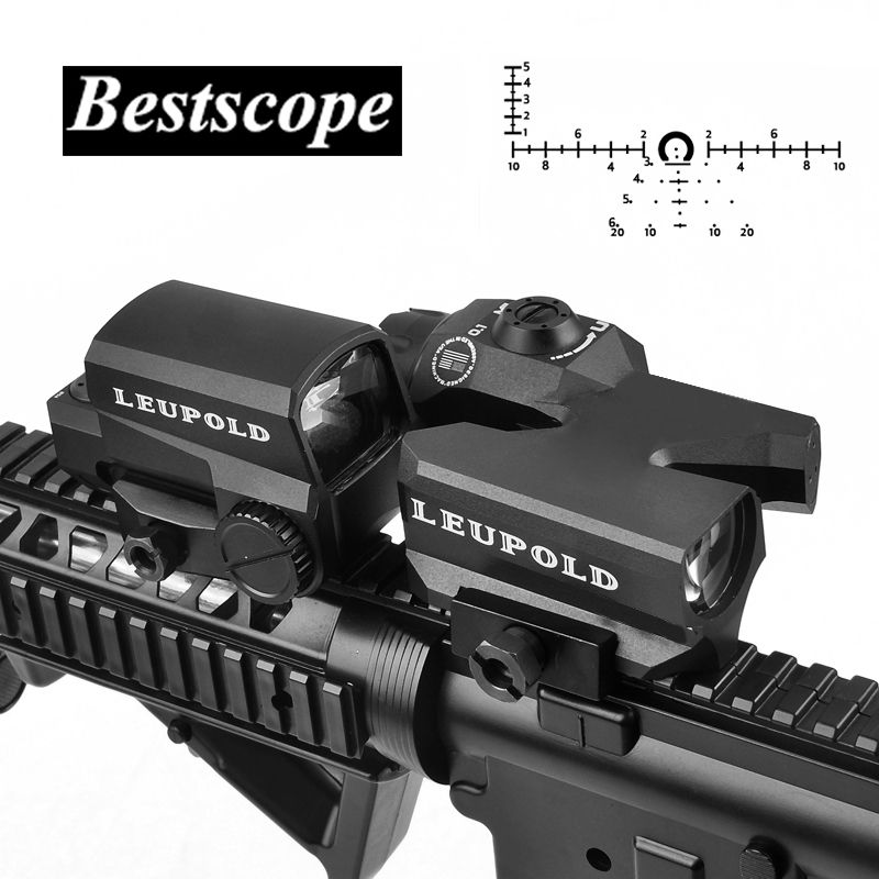 LEUPOLD D-EVO Dual-Enhanced View Optic Reticle Rifle Scope Magnifier with LCO Red Dot Sight Reflex Sight Rifle Sights