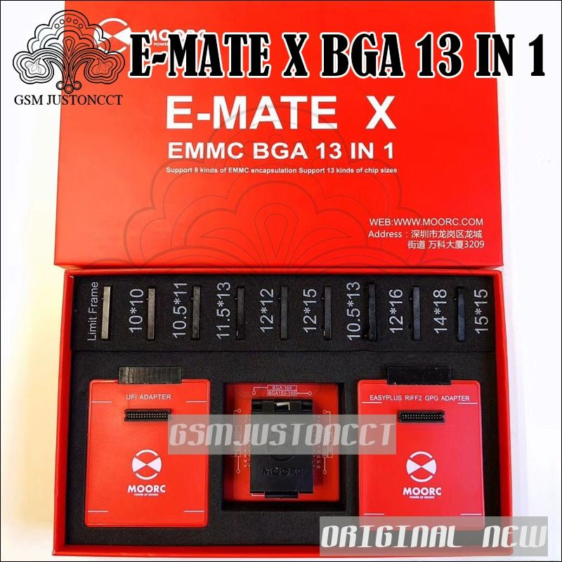 2018 Newest Emate box E-mate X EMMC BGA 13 IN 1 Support BGA100/136/168/153/169/162/186/221/529/254 for Easy jtag plus UFI box