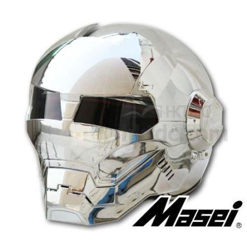 Masei bike scooter moto electroplate silvery iron man helmet motorcycle helmet half helmet open face helmet casque motocross