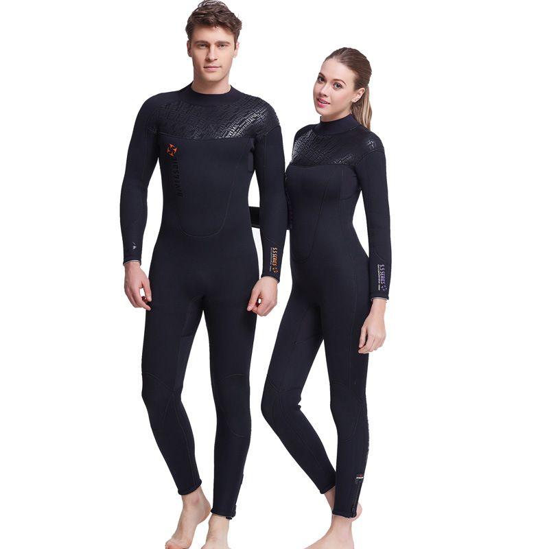 DIVE&SAIL Neoprene Wetsuit Surf Women Snorkeling Wetsuits Men Surfing Suit for Women Diving Suit 5mm Full Swimsuit Spearfishing