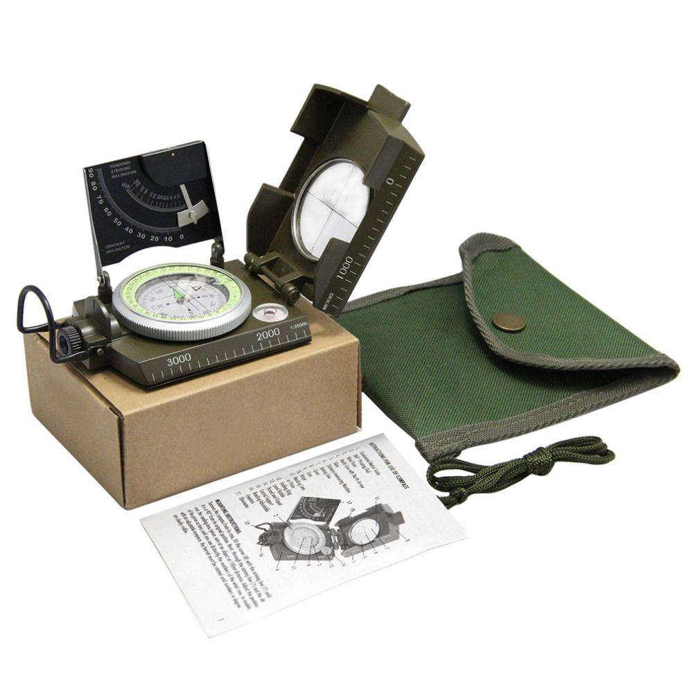 Professionelle kompass Militär Armee Geologie Kompass Sichtung Leucht Kompass mit moonlight für Outdoor Wandern Camping Heißer verkauf