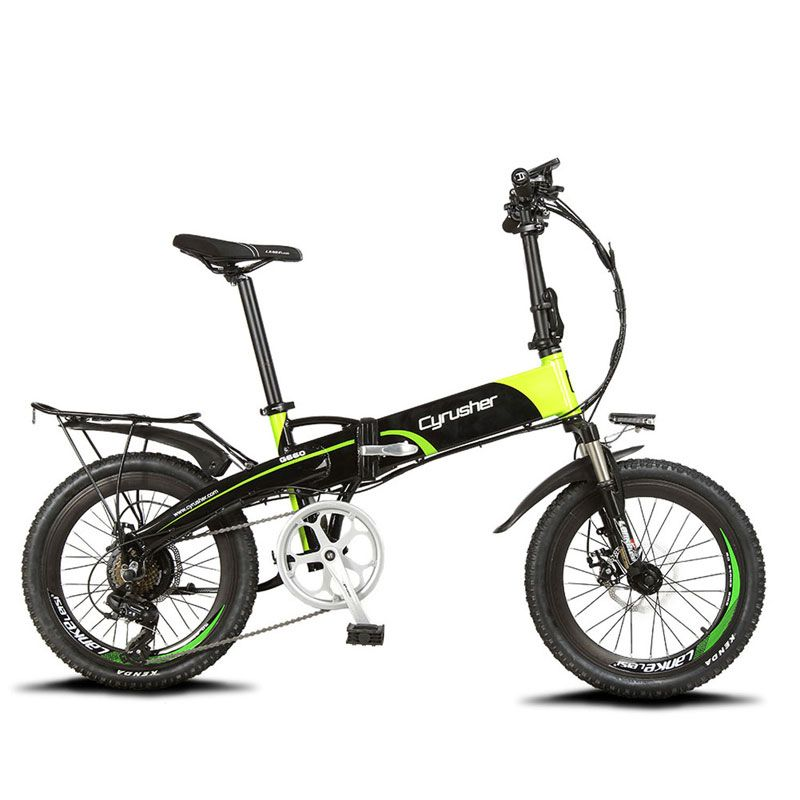 Cyrusher XF500 Electric Folding Bike 250W 48V 10AH Li-Battery full suspension Frame Smart hybird ebike With Computer Speedometer