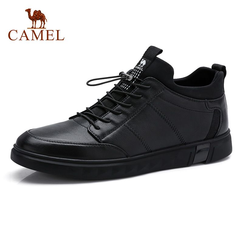 CAMEL Outdoor Men Casual Shoes Male Non-slip Fashion Elastic Band Sock-on shoelace Comfortable Insole Rubber Sole Man Footwear