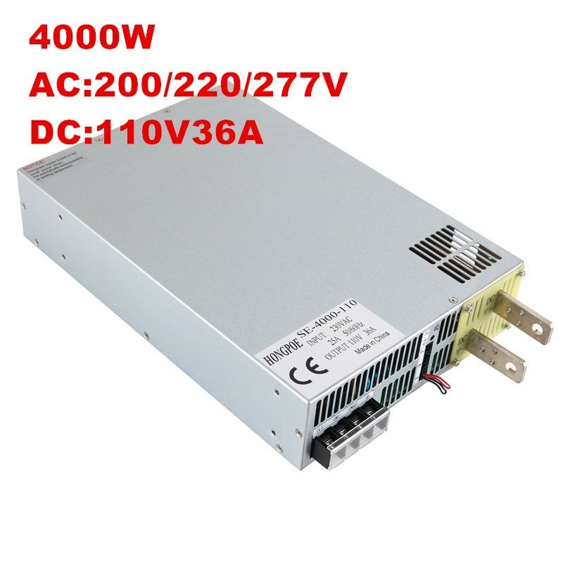 4000W 110V 36A DC 0-110v power supply 110V 36A AC-DC High-Power PSU 0-5V analog signal control SE-4000-110