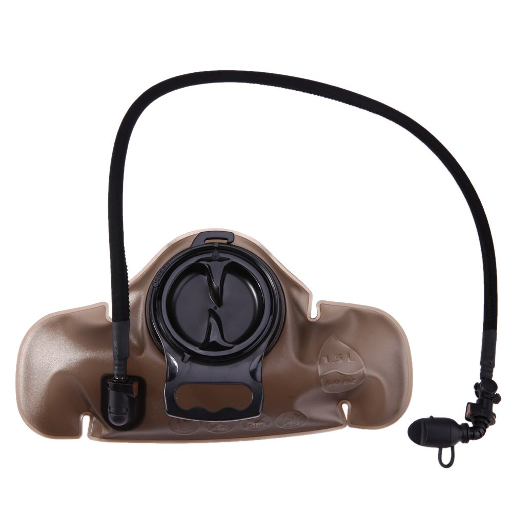 1.5L Outdoor Water Bag with 100CM Pipe Cycling Drinking Water Carrier Waist Bag Hydration Silicone Nozzle Bite Valve Drink Bag