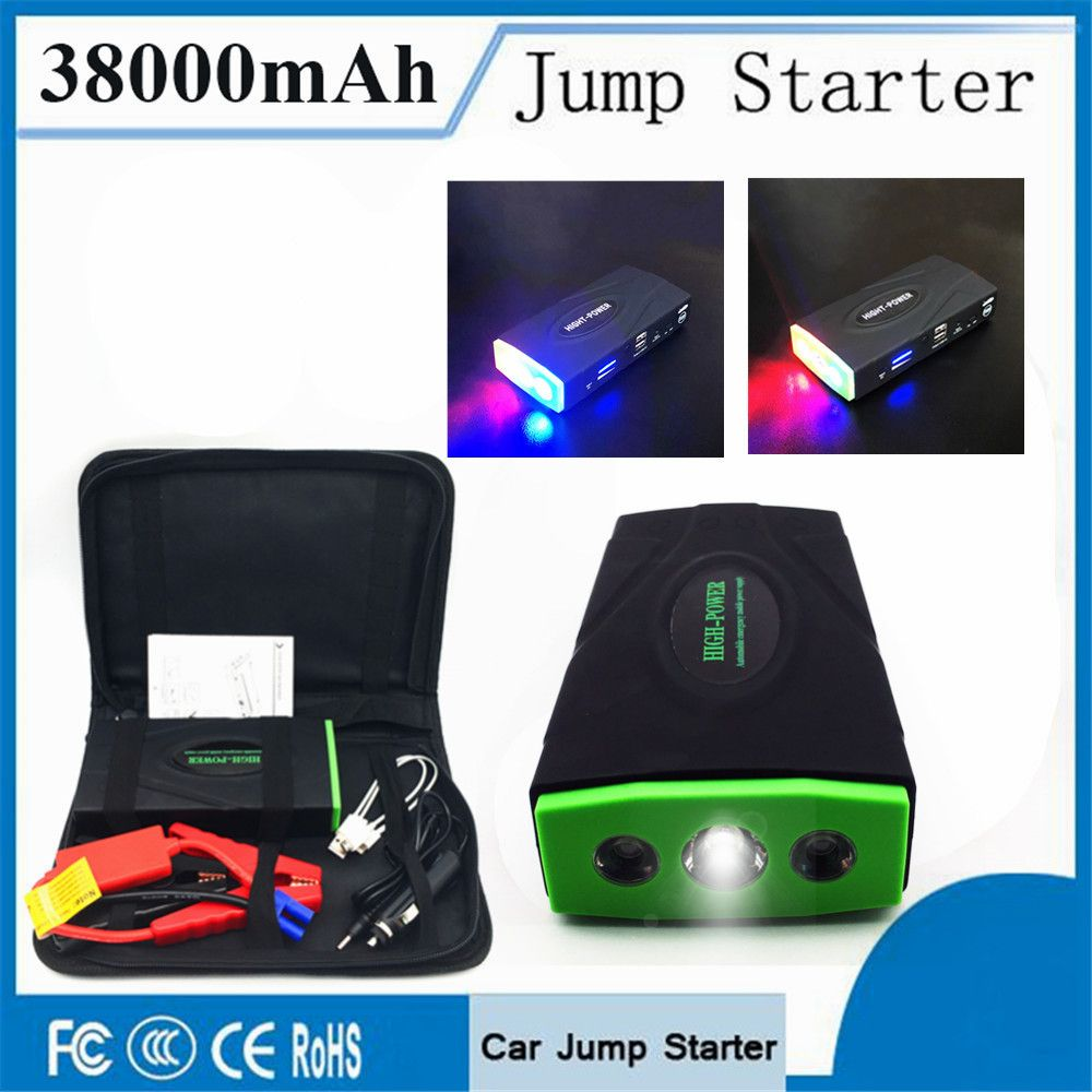Multifunktions 38000 mAh Auto Starthilfe 600A Tragbare Ausgangs Deivce Energienbank 12 V Notfall Auto Ladegerät Booster LED