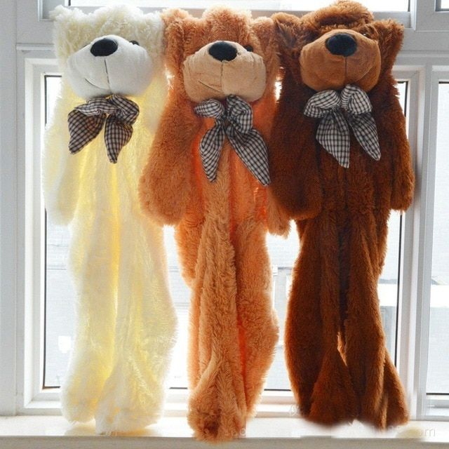 Teddy Bear Skins Skin 60CM to 200CM Giant Plush Empty Unstuffed Toy Toys Bears Shell Children Gifts Embrace Doll Birthday Gift