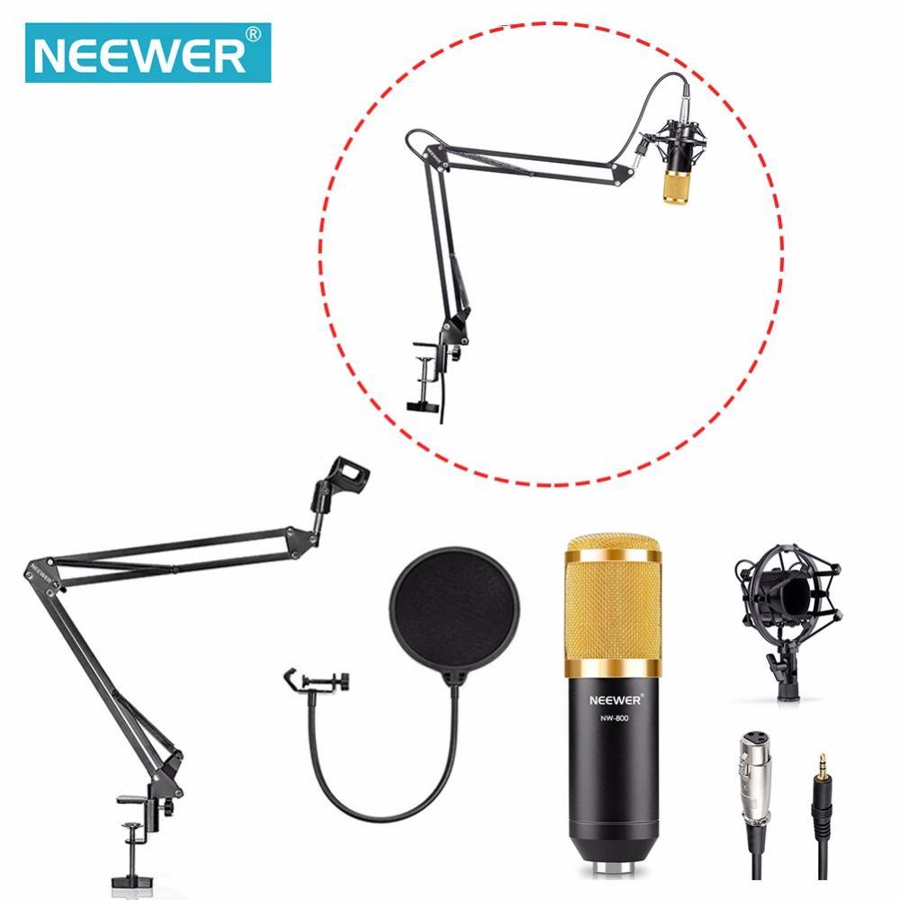 Neewer NW-800 Studio de Radiodiffusion Enregistrement Microphone À Condensateur NW35 Réglable Suspension Ciseaux Bras Support De Montage Clamp Kit