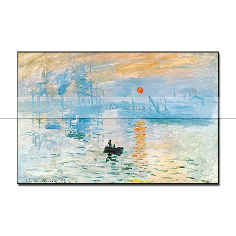 Copy Monet Impression Sunrise Monet Famous Paintings Reproductions Hand Painte For Living Room Wall Monet Decorative Pictures