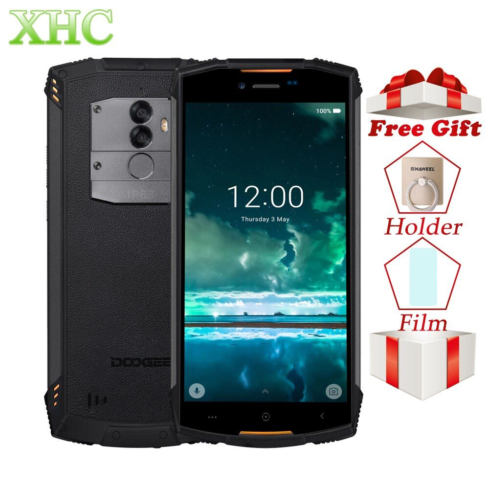 DOOGEE S55 4GB 64GB Smartphone IP68 Waterproof 5.5 13MP Android 8.0 MTK6750 Octa Core 5V 2A Quick Charge Dual SIM Mobile Phone