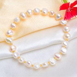 Ашичи настоящий натуральный пресноводный барочный жемчуг браслеты и браслеты для женщин хрустальные бусины ювелирные изделия подарок