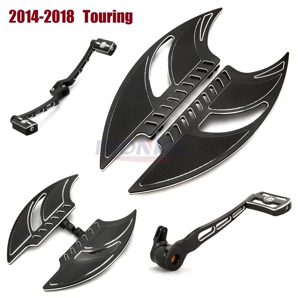 14-18 driver Floorboards for harley road glide fltr ,Special FLHRXS Shift Lever+Brake levers street glide flhx passenger floorbo