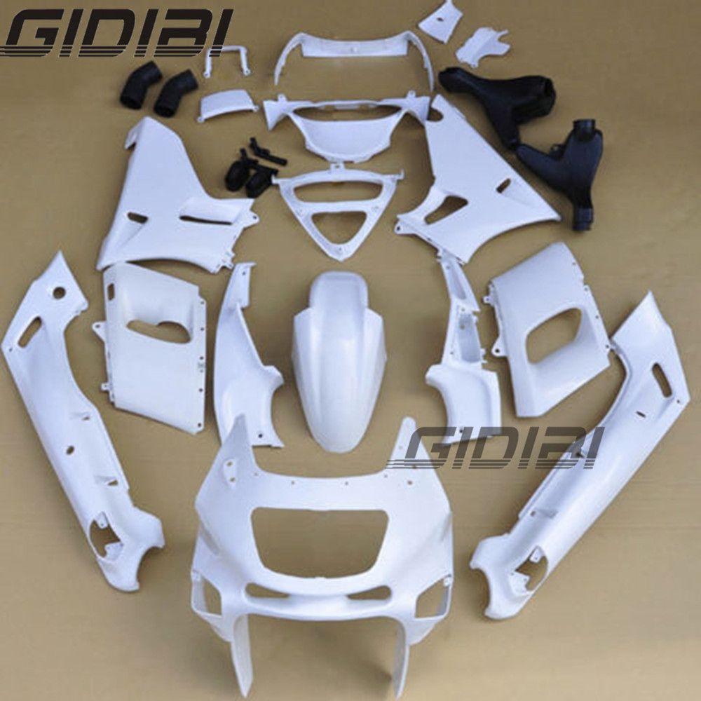 Motorrad Unpainted Weiß Verkleidungen Karosserie Kit Für KAWASAKI ZZR-400 ZZR 400 1993-2007 01 02 03 04 05 06 + 4 geschenk
