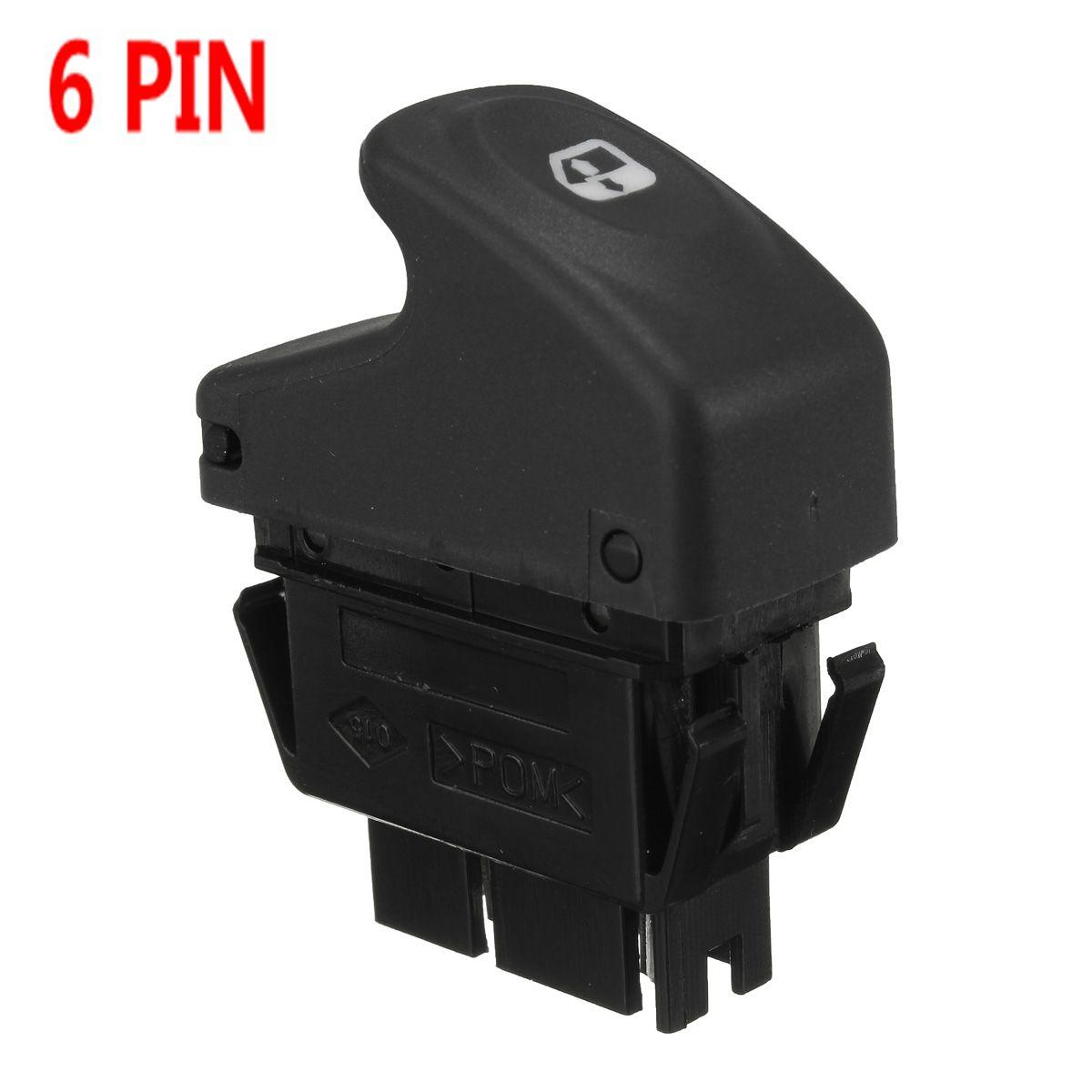 6 Pin Auto Elektrische Fenster Control Schalter für Renault Clio II Megane ICH BA0 BA1 EA0 EA1 DA0 Kangoo KC0 KC1 FC0 FC1