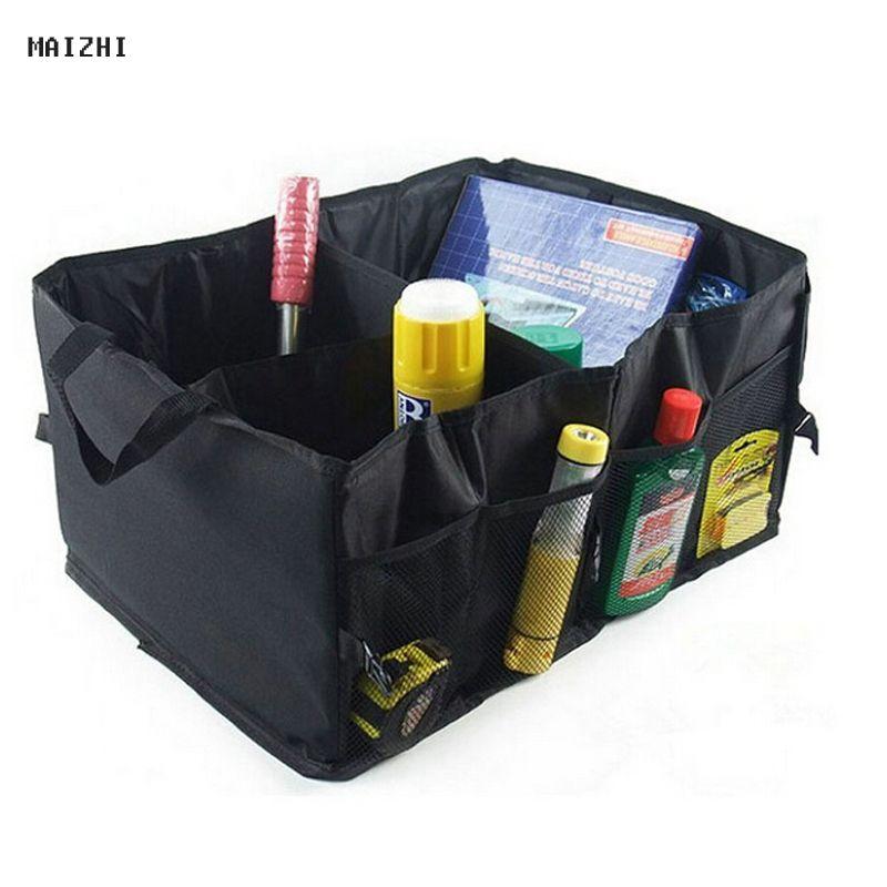 Quality Auto Supplies Car Back Folding Storage Box Multi-Use Tools Organizer Car Portable Storage Bags Black car trunk organizer