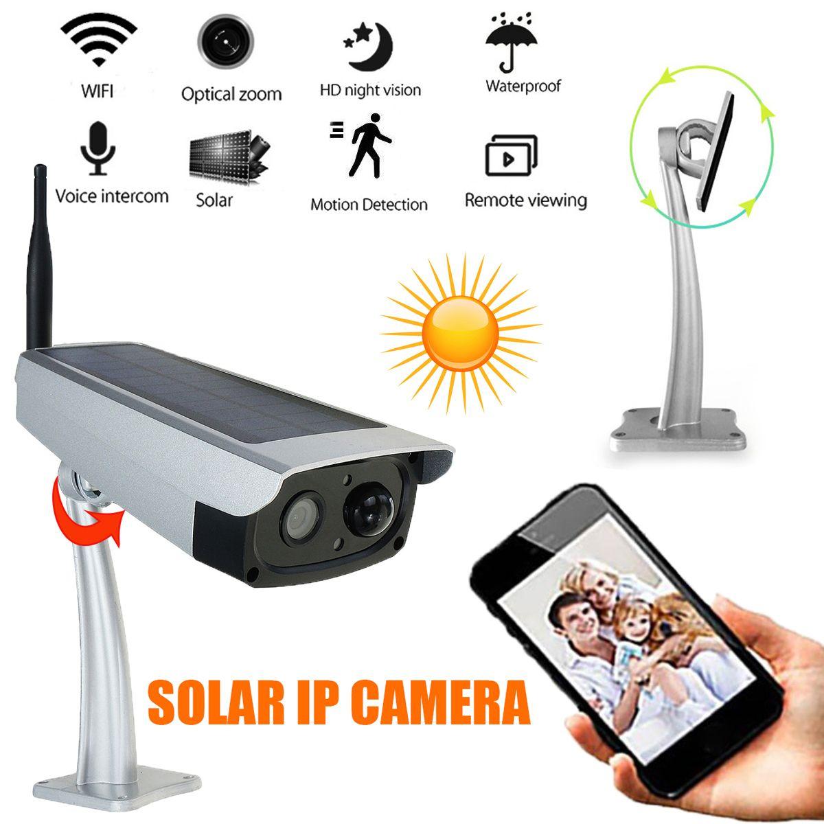 IP66 Waterproof Outdoor Security Solar Camera IP WIFI Cameras Mobile Phone Remote Control 1080P HD Surveillance Cameras System