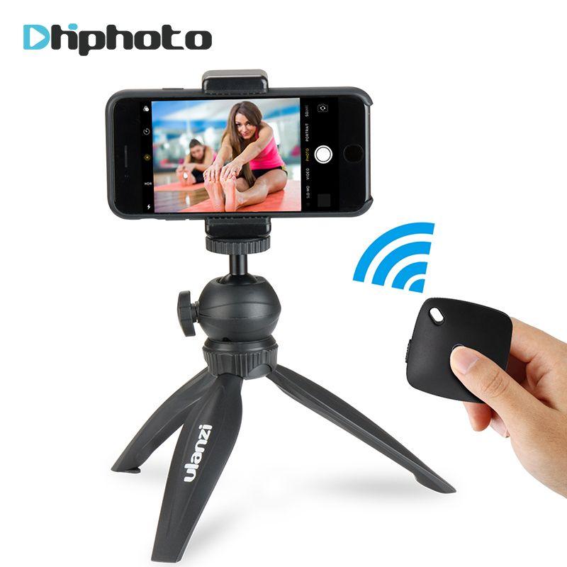Ulanzi Mini trépied pour téléphone, trépied de voyage avec rotule amovible pour iPhone Samsung Canon Nikon GoPro 6 lisse Q lisse 4 DJI