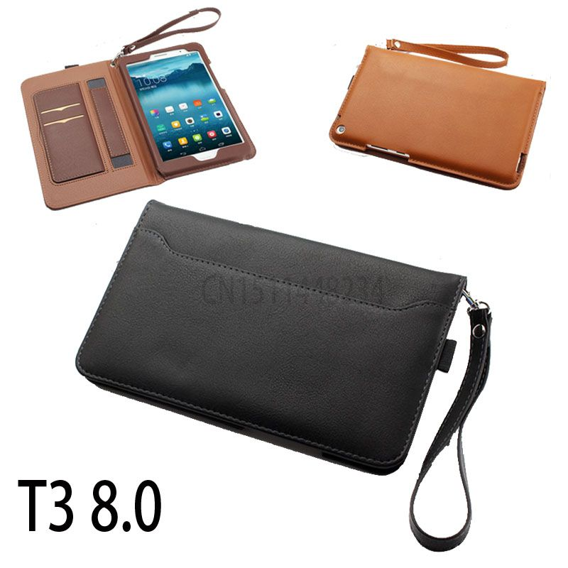 Portable Hand stand Magnetic Smart cover case For Huawei MediaPad T3 8.0 KOB-L09 KOB-W09 Tablet PU leather cover skin t3 8 inch