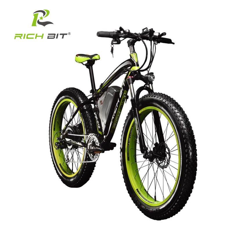 RichBit Ebike Neue 21 geschwindigkeiten Elektrische Fat Tire Bike 48 V 1000 Watt Lithium-Batterie Elektrosnowbike 17AH leistungsstarke elektrische Fahrrad