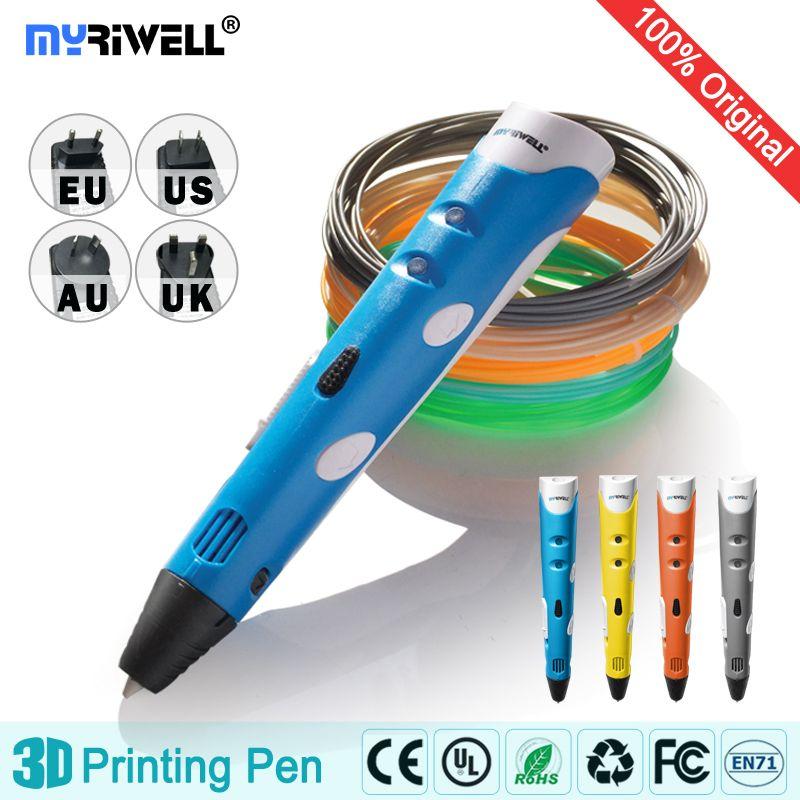 Myriwell 3d stylo 3d stylos, 1.75mm ABS/PLA Filament, stylo 3d modèle, Smart Creative3d stylo doodler, meilleur Cadeau pour les Enfants, 3d dessin pen-3d